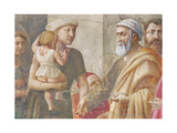 Detail of St Peter and the Woman and Child  from St Peter and St Paul Distributing Alms  C1426…
