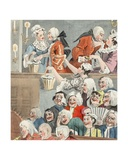 The Laughing Audience  Illustration from 'Hogarth Restored: the Whole Works of the Celebrated…