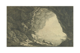 A Grotto in the Gulf of Salerno  Morning  C1800