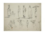 Butterworth: Group of Sketches of African Men and Women  1851