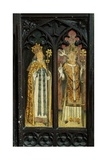 St Augustine of Hippo and St Gregory  Detail of the Rood Screen  St Thomas Church  Foxley …