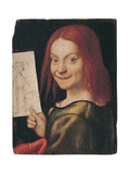 Portrait of a Child with a Drawing  1523