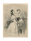 Two Young Ladies Singing to Piano Accompaniment