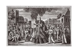The Martyrdom of Dr Thomas Cranmer at Oxford  Illustration from 'Foxes Martyrs' C1703
