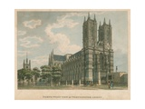 North West View of Westminster Abbey  London