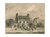The Farthing Pie House  London  Original Drawing Dated 1820
