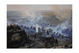 Crimean War (1853-1856) Siege of Sevastopol  1854-1855  by Franz Alekseyevich Roubaud (1856-1928)