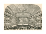 Interior of the Italian Opera House  Covent Garden  London