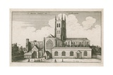 St Mary Overies  Southwark  London; Drawing Dated 1647