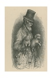 A Man Wearing a Top Hat While Holding Two Dogs in His Hands