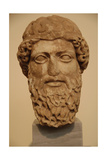 Head of a Bearded God in Pentelic Marble Probably Depicting Zeus or Hermes 5th Century BC…
