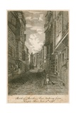 Sketch of Butcher Row  Looking from Temple Bar  9 June 1796