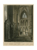 Entrance into Poets Corner  Westminster Abbey  London