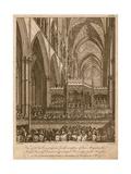 Commemoration of Handel  Westminster Abbey  London