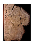 Stone Tablet with a Relief Depicting a Priest Making Offerings to a Cacao Plant