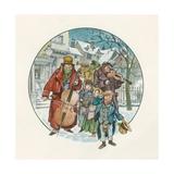 Victorian Christmas Scene