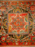 Thang-Ka Depicting a Mandala  Used as an Instrument of Meditation