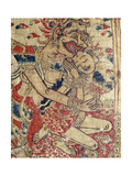 Cloth Painting  Probably Used as Curtains Beside a Temple Couch