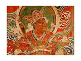 Painting (Detail) of the Buddhist Guardian King Vaisravana  a Late Tang Painting Said to Have…