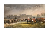 Hyde Park  the Princess Passing the Lines of the Volunteers  7 March 1863