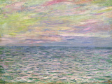 On the High Seas, Sunset at Pourville; Coucher De Soleil a Pourville, Pleine Mer, 1882 Reproduction d'art par Claude Monet