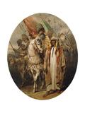 Arab Warriors Advancing  1855