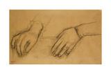 Study of Hands for a Portrait of Helene Rouart; Etude De Mains  Pour Le Portrait De Helene…