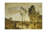 The Ford; Cows on the Edge of a Ford; Le Gue; Vaches Au Bord Du Gue  C1870-1873