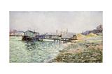 La Seine Au Jardin Des Plantes  1884