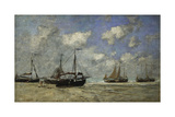 Scheveningen  Boats Run Aground on the Shore; Scheveningen  Bateaux Echoues Sur La Greve  1875