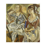 Young Women at a Table; Jeunes Filles Attablees (Recto)  C1915-1919
