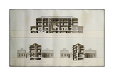 Designs for a Neo-Classical House for Lord Charleville: Three Sections (Nos9-11)  1789