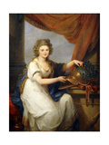 Portrait of Countess Catherine Skavronska  Seated Three-Quarter Length  in Neo-Classical Dress …