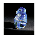 Faience Figure of a Seated Baboon