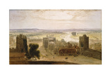 View from the Round Tower  Windsor Castle  1827
