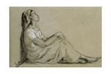 Jeune Negresse Assise  1855-57