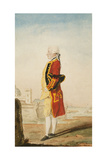 Colonel Morrison Possibly in the Uniform of the Royal Engineers  a Fortified Town Behind  1768
