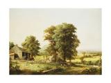 Summer Farm Scene  1862