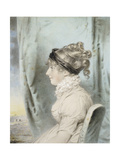 Portrait of a Lady  Identified as Eliza Were Holdsworth  Seated  Half Length  in Profile to the…