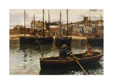 The Harbour  StIves  Cornwall  1885