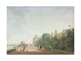 Windsor Castle: the North Terrace Looking East  with Elegant Figures  1803