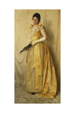 The Lady in Gold - a Portrait of Mrs  C1891