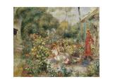 Girls in a Garden in Montmartre; Fillettes Dans Un Jardin a Montmartre  C1893-5