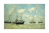 Boats on the Shore at Scheveningen; Scheveningue  Bateaux Echoues Sur La Greve  1875