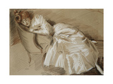 Madame Helleu Reclining on a Chaise-Longue