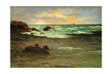 A Corner of the Beach at Concarneau; Un Coin De Plage a Concarneau  1887