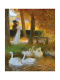 Lovers and Swans; the Autumn Walk; Les Amants Et Les Cygnes; La Promenade D'Automne  1896