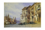 Palaces Near the Entrance of the Grand Canal  Venice  1898