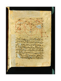 Folio from an 19th C Transcription of the 11th C Treatise  Mukhtasar Al- Majasti  by Ibn Sina …