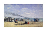 The Beach at Trouville at Bathing Time; La Plage De Trouville a L'Heure Du Bain  1868